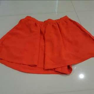 Mooloola skorts orange size 8