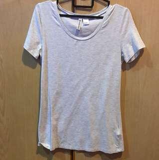 h&m basic heather grey tshirt