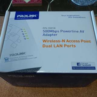 Powerline AV Adapter (wireless access point LAN)