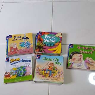 rocket kids reader story book  green red blue yellow pink level