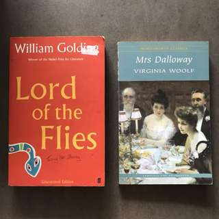 Lord of the Flies & Mrs Dalloway