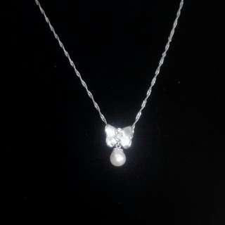 🚚 珍珠鑽石墜子