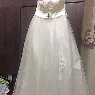 Evening Wedding party prom dress white