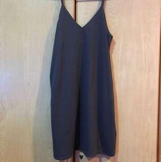 anticlockwise grey sleeveless dress