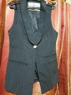 Pinstripe Vest/ Blazer