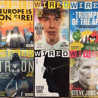 WIRED magazine UK edition 2011 - six assorted issues