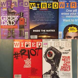 WIRED USA magazine 2012 - six issues