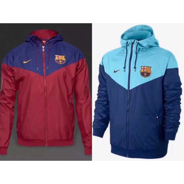17 18 Fc Barcelona Windbreaker Men S Fashion Clothes Outerwear On Carousell