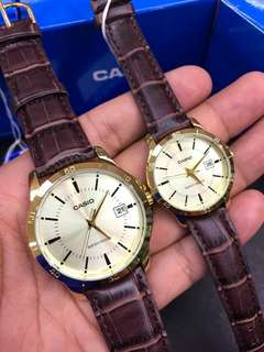 Casio Gold Couple Leather Series w/ Date