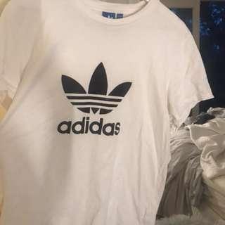 White adidas tshirt size large