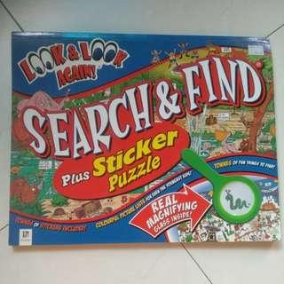 Search & Find Plus Sticker Puzzle