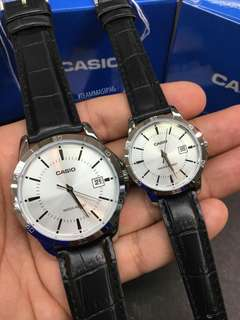 Casio Couple Stainless Leather w/ Date