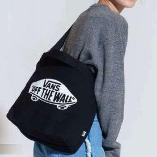 FUN日雜~街頭潮流 黑色 帆布 兩用 側背包 手提包+收納包
