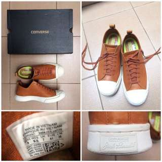 CONVERSE BROWN LEATHER