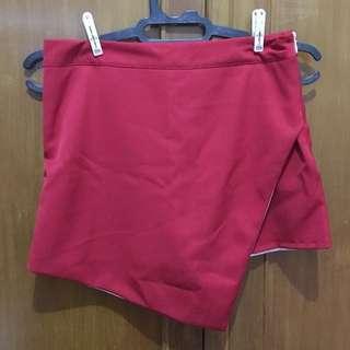 Women flap skort red