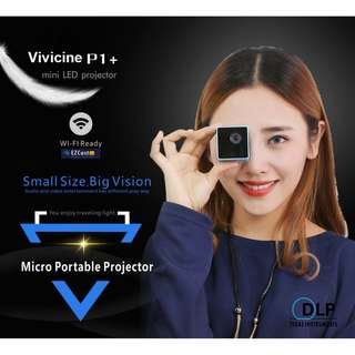 Drop Ship Vivicine P1 P1+WIFI Wireless Pocket LED Pico Smart Mini Projector,Micro Miracast DLNA Handheld Video Proyector Beamer