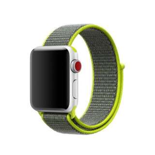 Nylon strap Sport Loop Bracelet for iWatch Series 3 42mm - Luminous Yellow