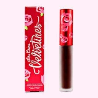 🆕Lime Crime Velvetines Liquid Matte Lipstick (Salem)