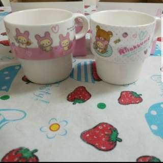 鬆弛熊 小白熊杯(有柄 連盒) 2個