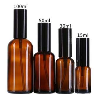 Amber Glass Spray Bottle for Essential Oil