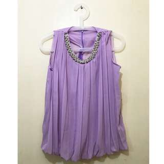 Purple Pearl Sleeveless Top (Perfect for Occasions)