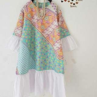 Tunik Batik Kombi Oren