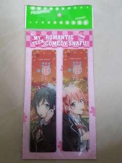 Oregairu Yukinoshita and Yuigahama bookmarks