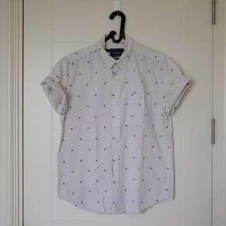 TOPMAN Classic pattern white shirt