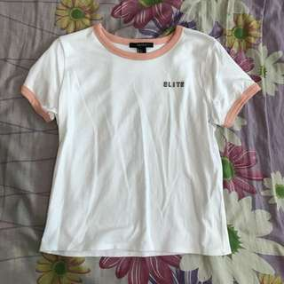 Forever21 Pink x White Tee