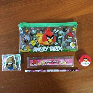 [FREE MAIL] BNIP Angry Birds Stationery Set