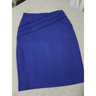 Cobalt Midi Pencil Skirt