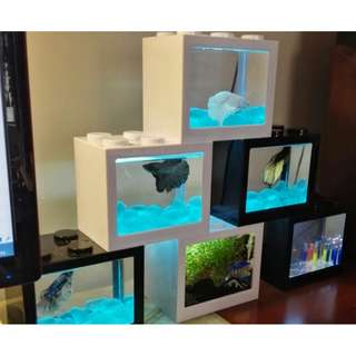 *EOY Guaranteed Lowest Sale* 5 x Betta Lego Stackable Cube Tank for Betta Fish Small Fishes