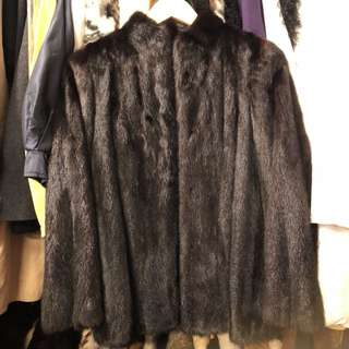 Dark brown mink cardigan jacket