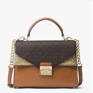 Michael kors sloan logo and leather