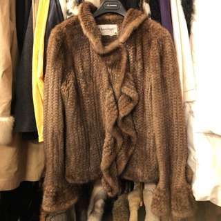 Flamingo brown superb furs mink cardigan jacket