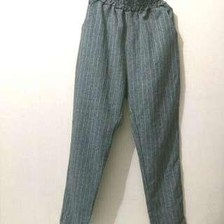 Pinstripe grey pants