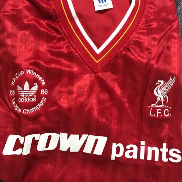 best loved f1df1 67db5 1985/86 Liverpool F.A Cup Winners League Champions 1985/1986 ...