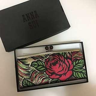 日本限量版 全新有盒 Anna Sui 玫瑰 小手提包