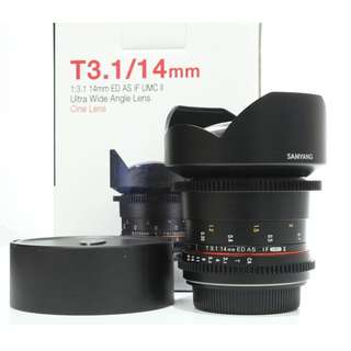 Samyang 14mm T3.1 VDSLR II ED AS IF USM Lens (Canon Mount)