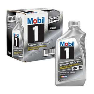 Mobil 1 0W-40 Motor Engine Oil - Conti Perfomance Cars ( 1 qt bottles, 6 pack)