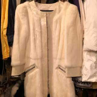 Andrew GN natural mink with leather jacket size 40