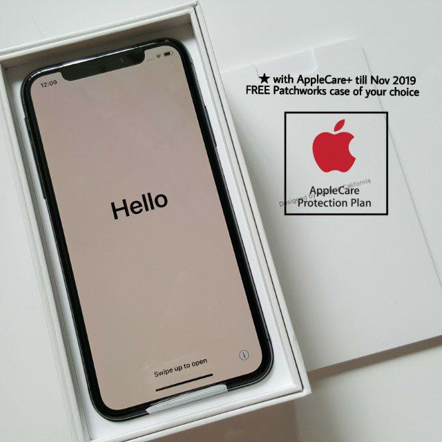 2018 offer! iPhone X 256GB Space Grey Free Case & AppleCare