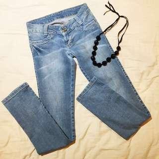 Pale Blue Butt-lift Jeans