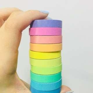 彩虹 mt tape 紙膠紙 rainbow Washie tape set