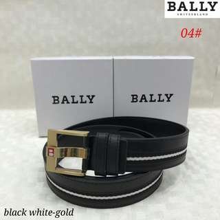 sabuk Bally 04#1  Kwalitas semi premium   bahan kulit bagus list 3 warna, kepala gold & Silver, UK lebar 3,5cm   UK panjang 110-125cm  free box. Berat 200gr  H 190rb