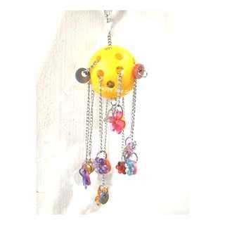 Parrot Bird Acrylic Fun Hanging Charm Toy
