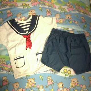 H&M Sailor Set Size 9-12M Brand New