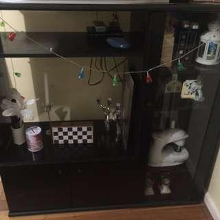 Black TV UNIT/cabinet