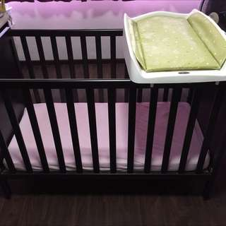 Ikea Sundvik Baby Cot And Brevi Changing Top