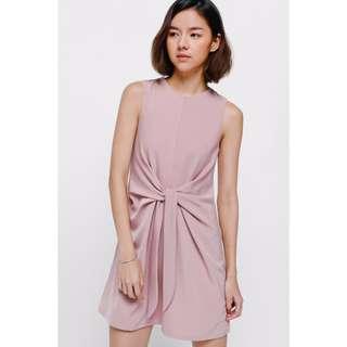 LOVE BONITO Eora Gathered Tie Front Dress